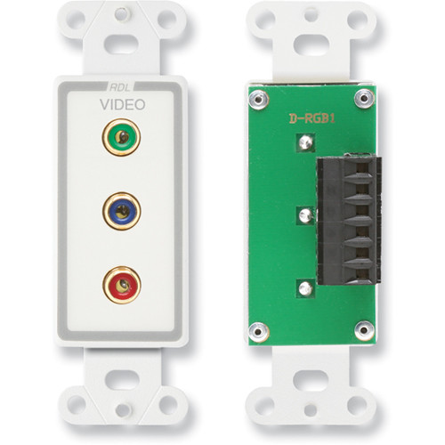 RDL D-RGB1 Component Video RGB Connection Plate (White/Gray)