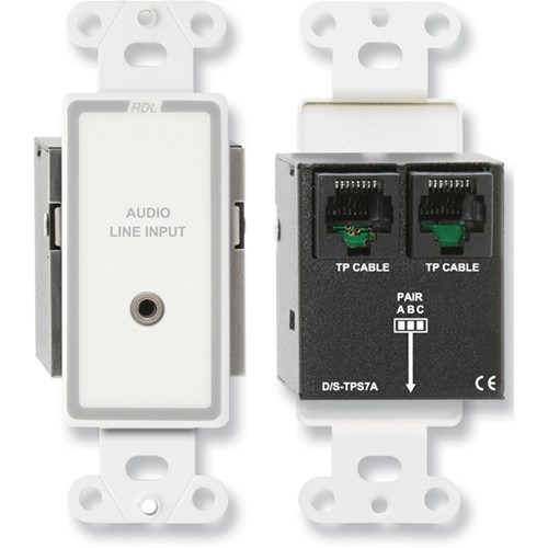 RDL D-TPS7A Format-A Passive Single-Pair Sender with Mini Jack (White/Gray)