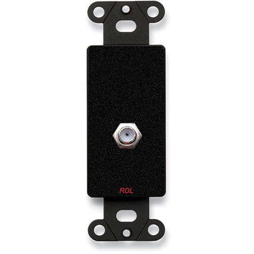 RDL Double Type F Jack on Decora Wall Plate (Black)