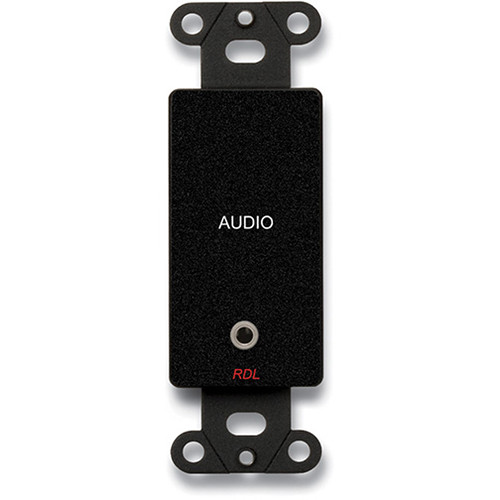 RDL DB-MJPT Mini-Jack Pass-Through Plate Black