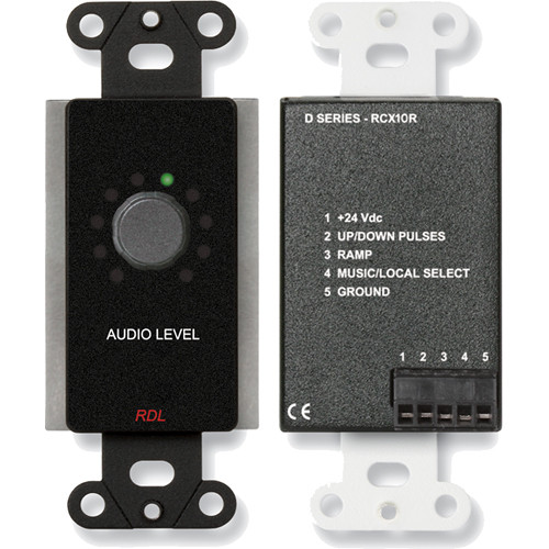 RDL DB-RCX10R Remote Volume Control for RCX-5C Room Combiner (Black)