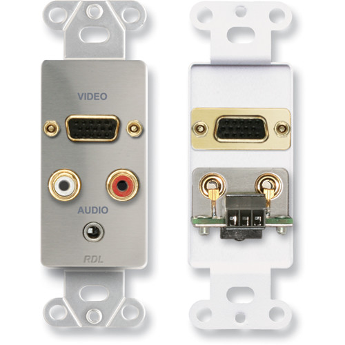 RDL DS-AVM4 Audio and Video Monitor Jack Panels (Stainless Steel)