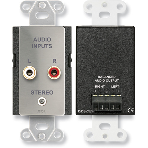 RDL DS-CIJ3D Consumer Input Stereo Jack (Stainless Steel)