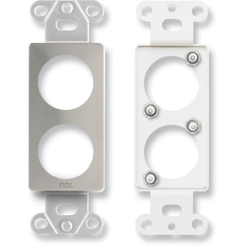 RDL DS-D2 Dual Plate for Standard/Specialty Connectors (Stainless Steel)