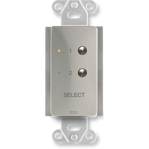 RDL DS-RC2ST 2-Channel Remote Control for STICK-ON (Stainless Steel)