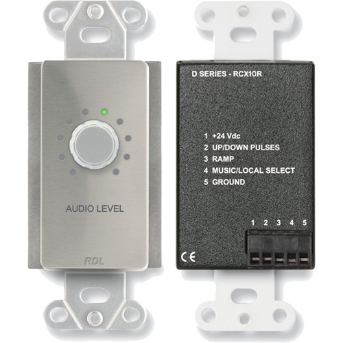 RDL DS-RCX10R Remote Volume Control for RCX-5C Room Combiner (Stainless Steel)