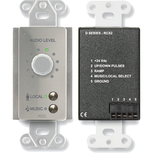 RDL DS-RCX2 Room Control (Stainless Steel)