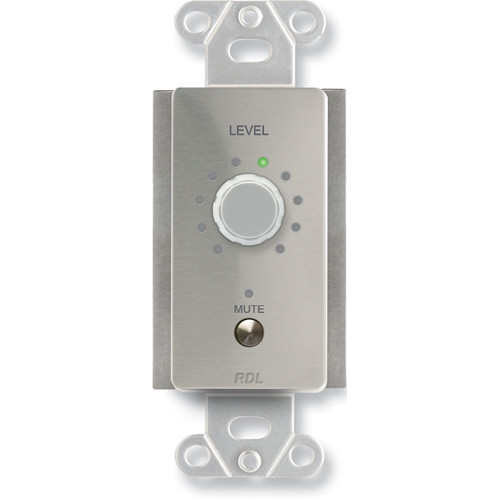 RDL DS-RLC10M Remote Level Control with Muting, Rotary (Stainless Steel)