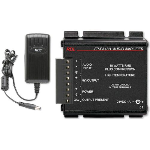 RDL FP-PA18H 18W Mono Hi-Temp Audio Amplifier