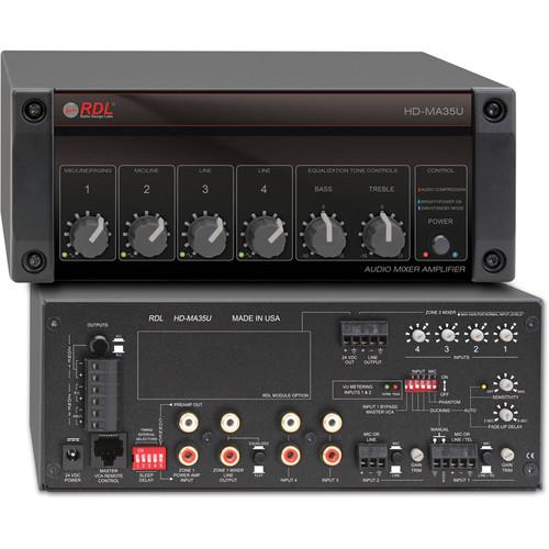 RDL HD-MA35U 35-Watt Mixer Amplifier