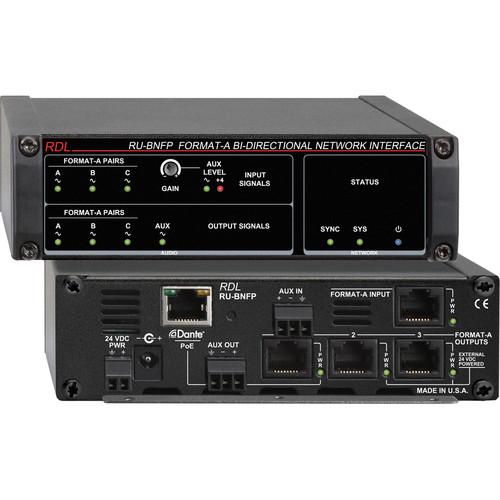 RDL RU-BNFP Format-A Network Interface (Bi-Directional, PoE)