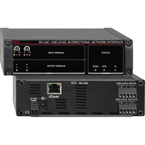 RDL RU-LB2 Line-Level Bi-Directional Network Interface (Two-Signal)