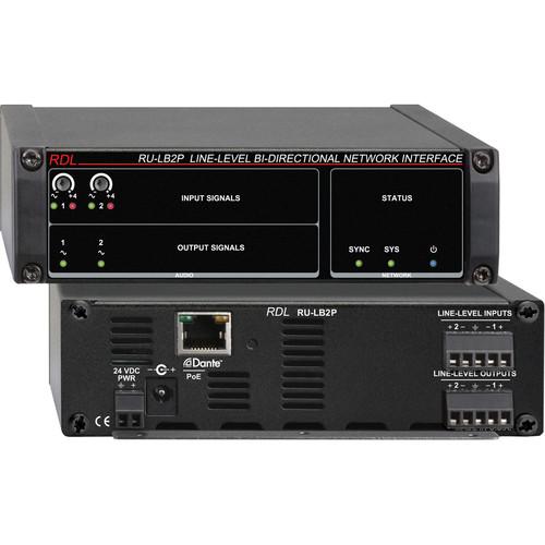 RDL RU-LB2P Line-Level Bi-Directional Network Interface (Two-Signal, PoE)