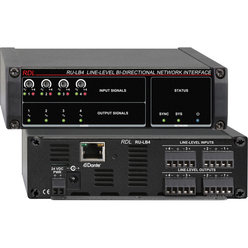 RDL RU-LB4 Line-Level Bi-Directional Network Interface (Four-Signal)