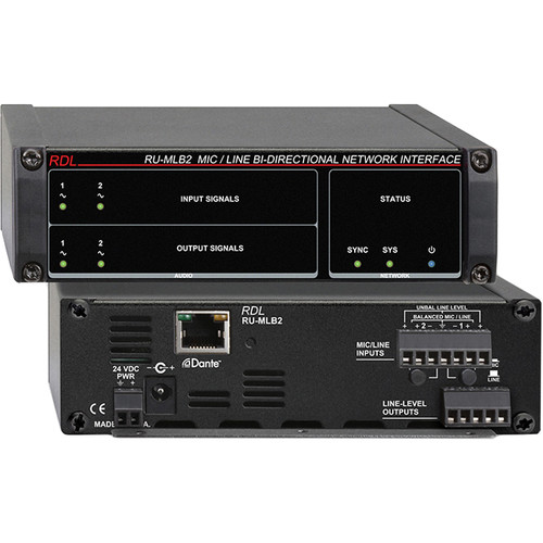RDL RU-MLB2 Mic/Line-Level Bi-Directional Network Interface (Two-Line)