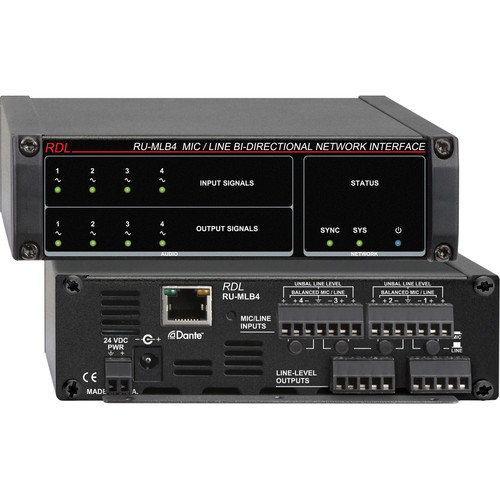 RDL RU-MLB4 Mic/Line-Level Bi-Directional Network Interface (Four-Line)