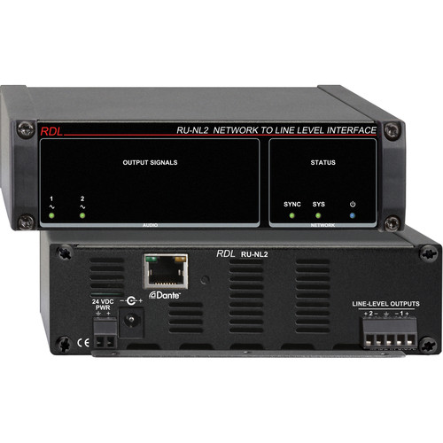 RDL RU-NL2 Network to Line-Level Interface (Two-Channel)