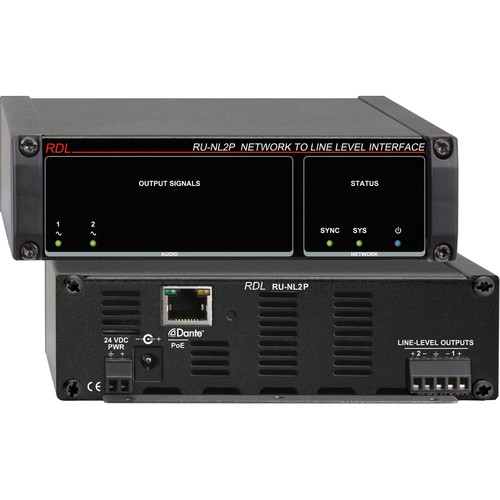 RDL RU-NL2P Network to Line-Level Interface (Two-Channel, PoE)