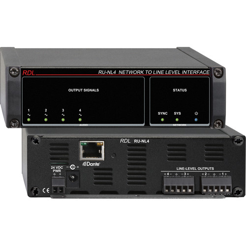 RDL RU-NL4 Network to Line-Level Interface (Four-Channel)