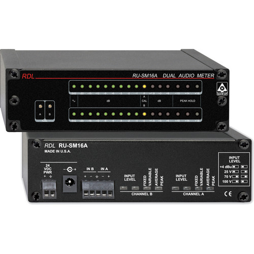 RDL RU-SM16A 2-Channel Audio Meter