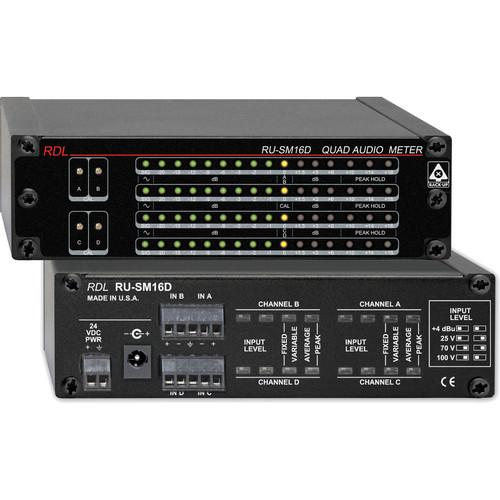 RDL RU-SM16D 4-Channel Audio Meter