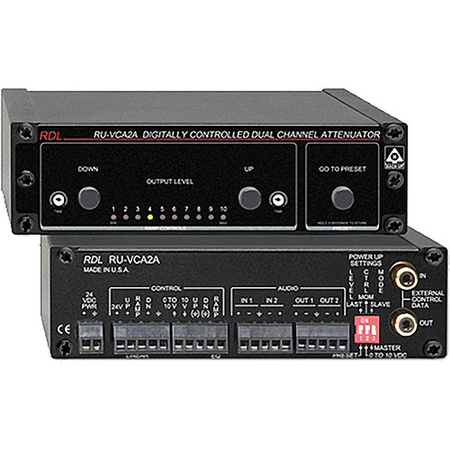 RDL RU-VCA2A 2- Channel Digitally Controlled Attenuator
