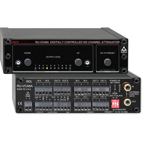 RDL RU-VCA6A Digitally Controlled Six Channel Audio Attenuator