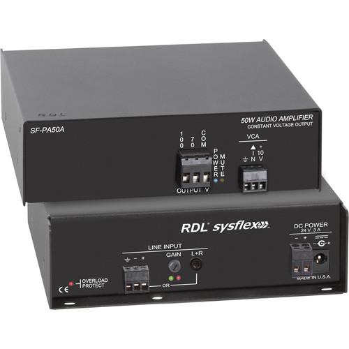 RDL SF-PA50AX 50W 70/100V Audio Amplifier (Export Model, No Power Cord)