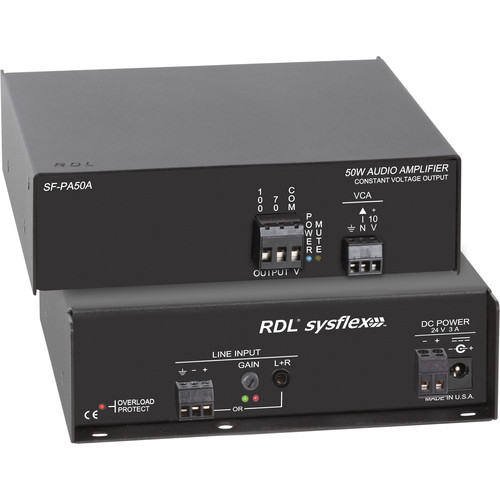 RDL SF-PA50AX 50W 70/100V Audio Amplifier (Export Model, No Power Cord)