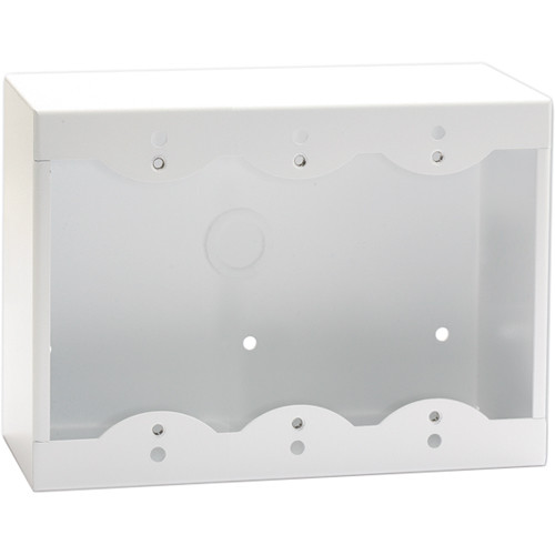RDL SMB-3W Surface Mount Box for 3 Decora-Style Products (White)