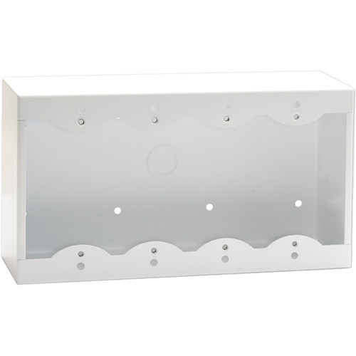 RDL SMB-4W Surface Mount Box for 4 Decora-Style Products (White)