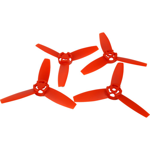 re-fuel Replacement Propeller for Parrot Bebop (Red, 4-Pack)