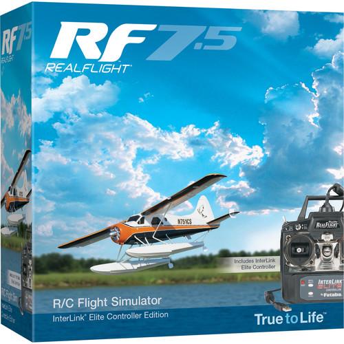 RealFlight RF7.5 R/C Flight Simulator with InterLink Elite Controller