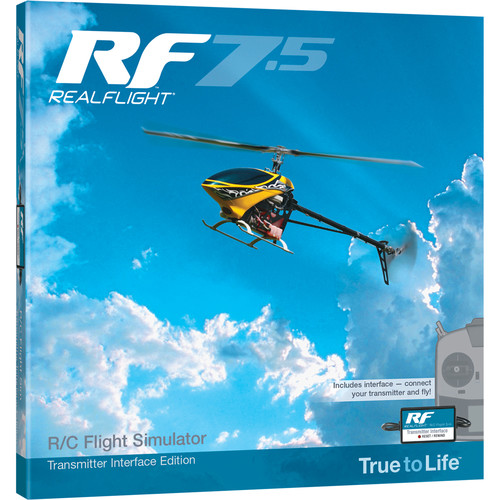 RealFlight RF7.5 R/C Flight Simulator with Wired Transmitter Interface