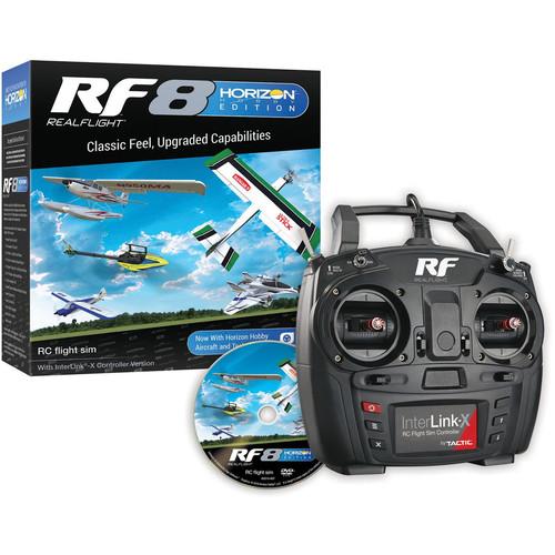 RealFlight Realflight RF8 Horizon Hobby Edition RC Flight Simulator Software Dvd With Interlink-X Transmitter M