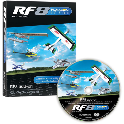 RealFlight Realflight 8 RF8 Horizon Hobby Edition Add-Ons Disc Only (Full Simulator Software And Transmitter No