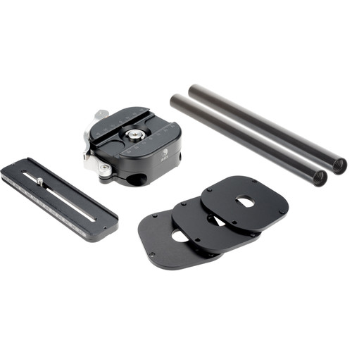 "Really Right Stuff Kit Includes One VRA-15 Adapter, One Rail, Two Black 6"" Video Rods, and Three Spacers"