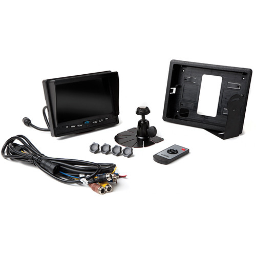 "Rear View Safety 7"" Quad View Monitor with RCA Connection (NTSC & PAL)"