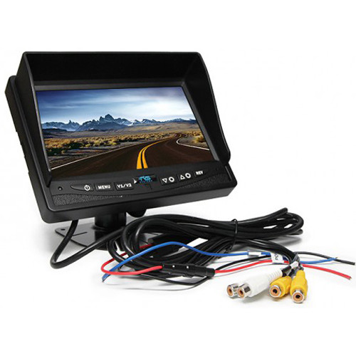 "Rear View Safety 7"" LCD Rear View Monitor with RCA Connectors"