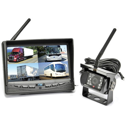 Rear View Safety Wireless Quad Backup Camera System
