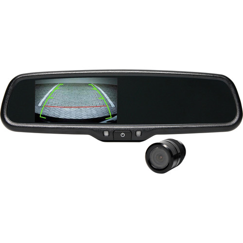 Rear View Safety Flush Mount Camera System with Mirror Monitor