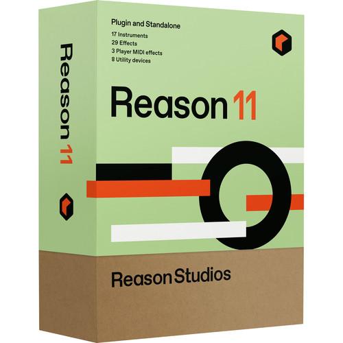 Reason Studios Reason 11 - Music Production Software (Boxed Upgrade, Educational Discount, 5-Seat)