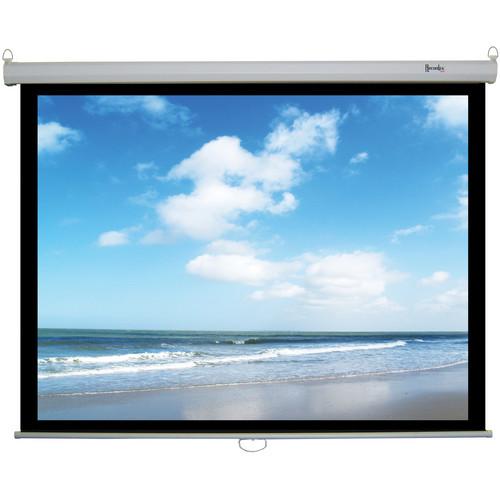 "Recordex USA ReTract Plus Premium Manual Wall/Ceiling Projector Screen (87 x 116"")"