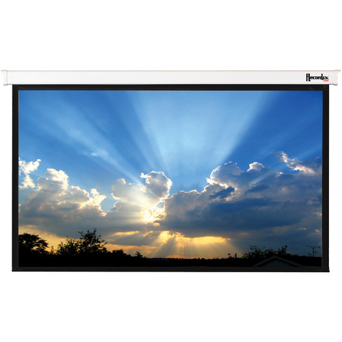 "Recordex USA Magnifica Plug & Play Electric Screen with IR Remote (52 x 92"")"