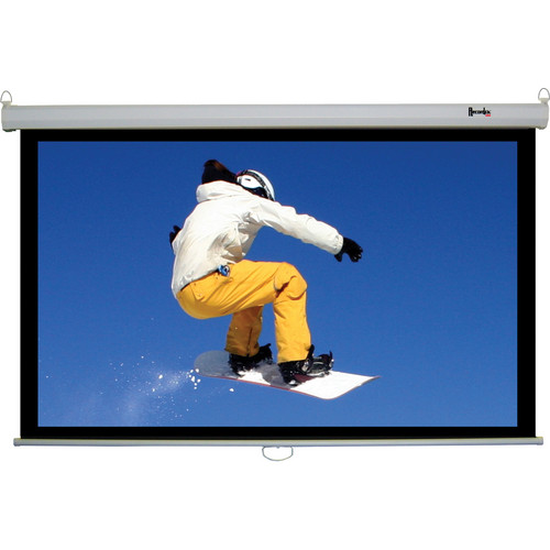 """Recordex USA Clarity Plug & Play Electric Screen with IR Remote (59 x 104"""")"""