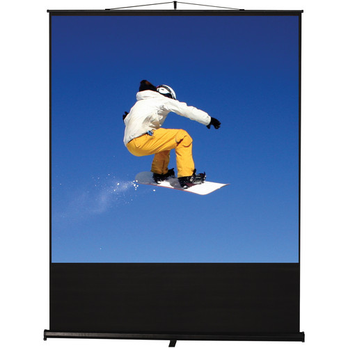"Recordex USA Clarity FloorRise Portable Screen (59 x 78"")"
