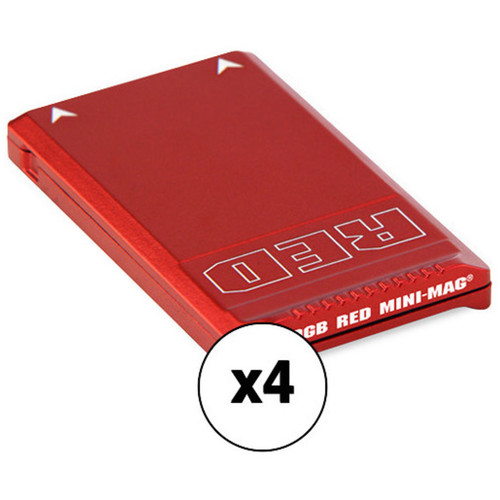 RED DIGITAL CINEMA RED MINI-MAG (960GB, 4-Pack) Kit with Water-Resistant Case
