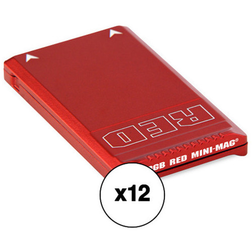 RED DIGITAL CINEMA RED MINI-MAG (480GB, 12-Pack) Kit with Water-Resistant Case