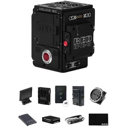 RED DIGITAL CINEMA EPIC-W Start-Up Kit with Aluminum EF Mount, Media, Reader, Batteries & Charger