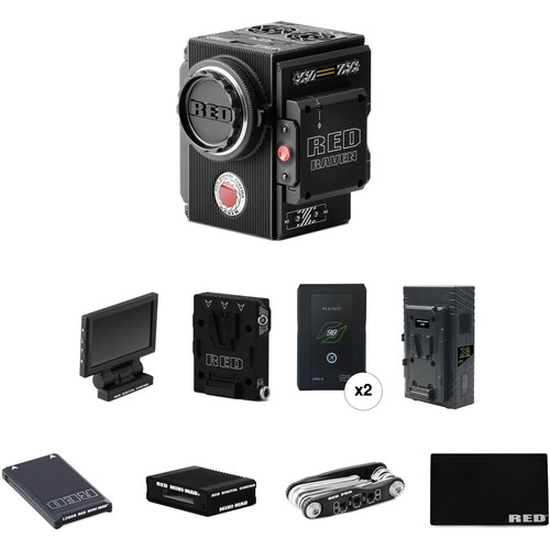 RED DIGITAL CINEMA RAVEN 4.5K Start-Up Kit with Media, Reader, Batteries & Charger